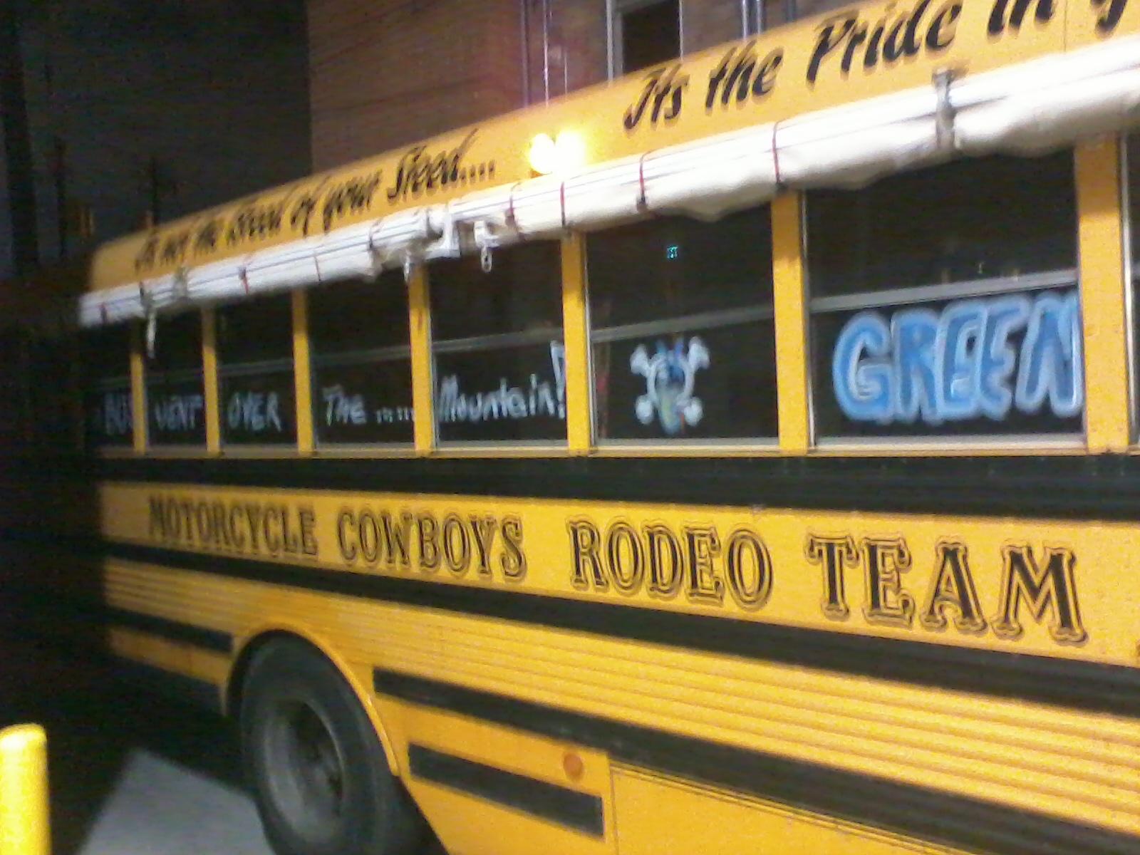 Green Jelly tour bus